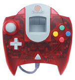 Controller -- Clear Red (Dreamcast)