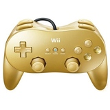 Controller -- Classic Controller Pro - Gold (Nintendo Wii)