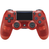 Controller -- DualShock 4 Crystal Red (PlayStation 4)