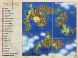 Final Fantasy III -- Map Only (Super Nintendo)