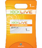 Xbox Live Subscription Card -- 1 Month (Xbox 360)
