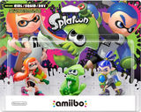 Amiibo -- Inkling Girl - Orange / Squid - Green / Boy - Blue (Splatoon Series) (other)