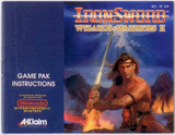 Ironsword: Wizards and Warriors 2 -- Manual Only (Nintendo Entertainment System)